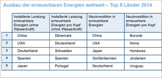 Vgl. REN21, Renewables 2015 – Global Status Report, Juni 2015